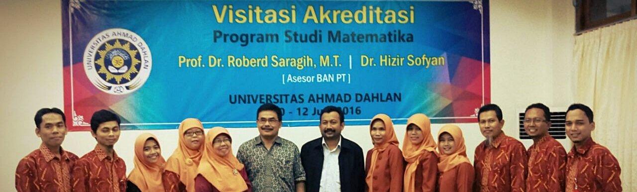 Visitasi Akreditasi Matematika UAD 2017